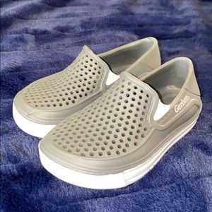 🥳GERBER BRAND GREY AND WHITE RUBBER SLIP ON SHOES
